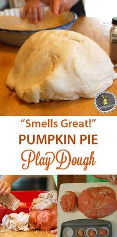 """Smells like Fall"" Pumpkin Play Dough   TinkerLab.com"