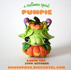 Meet Pumpie! Halloween Inspired Custom Kidrobot Dunny from Haus of Boz