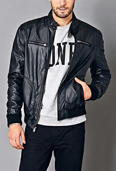 Favorite Biker Jacket | 21 MEN - 2040495761