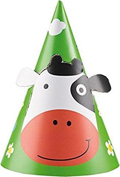 8 Partyhüte * FARM FUN * von Amscan für Kindergeburtstag oder Motto-Party // Party Partyhats Motto Bauernhof Kinder Tiere Vögel