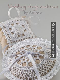 Wow - Anillos de Boda Wedding rings cushions by Anabelia, pattern | CHECK OUT THESE OTHER FANTASTIC INSPIRATIONS FOR TASTY Anillos de Boda AT WEDDINGPINS.NET | #AnillosdeBoda #Anillos #weddingrings #rings #engagementrings #boda #weddings #weddinginvitations #vows #tradition #nontraditional #events #forweddings #iloveweddings #romance #beauty #planners #fashion #weddingphotos #weddingpictures