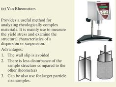(e) Van Rheometers Provides a useful method for analyzing rheologically…