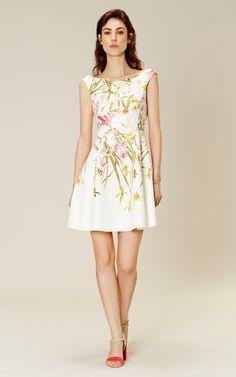 Karen Millen Lily-print cotton dress