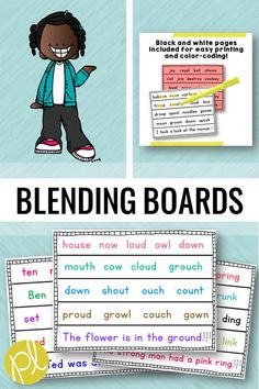 Use blending boards with the whole group, small group, or send home for extra fluency practice. 200 phonics pages provides practice for every day of the school year! Reading Response, Reading Fluency, Reading Intervention, Reading Passages, Reading Skills, Guided Reading, Teaching Reading, Fluency Practice, Spelling Practice