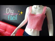 Blusa Crop Top paso a paso, fácil y rápido ganchillo, crochet blouse easy DIY - YouTube