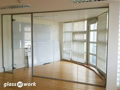From Glass At Work: Acoustic Single Glazed Glass Office Partitioning Glass Office Partitions, Glass Partition, Glazed Glass, Glass Room, Window Film, Glass Panels, Store Design, Home Projects, Layout Design