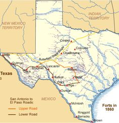 Frontier Forts of Texas, post revolution. Waltz Across Texas, West Map, Native American Cherokee, Republic Of Texas, Texas History, Texas Homes, Texas Travel, Texas Hill Country, State Map
