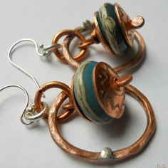 Mixed Metalwork Rustic Southwest Copper Sterling by jewelrybyDebra, $42.00 - SOLD