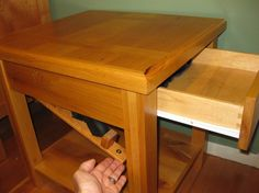 Custom Made Bedside Table With Secret Compartment
