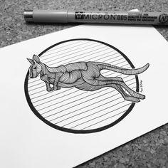 #kangaroo #inktober #inktober2016 #inktober2go #ink #inkdrawing #inkfeature #inkonpaper #penwork #linedrawing #linework #lines #blackwork #iblackwork #geometricworks #geometric #drawing #dailydrawing #illustration #art #dailyart #artoftheday #handdrawn #animalart #micron