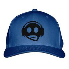 Headphone Embroidered Baseball Cap