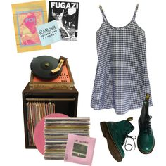 WORRY. by kampow on Polyvore featuring Dr. Martens and Floyd