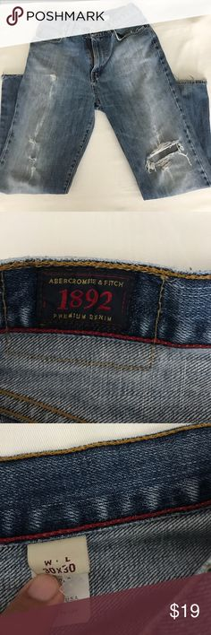 Abercrombie & fitch vintage boot cut jeans. Abercrombie & fitch vintage boot cut jeans.  All the rips are natural rips through wear and tear.  Great pair of classic boot cut jeans. Abercrombie & Fitch Jeans Bootcut