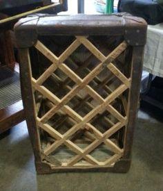 luggage trunk repurposed into wine rack. Crochet Hair Styles, Garden Styles, Wine Rack, Braided Hairstyles, Repurposed, Living Room Decor, Kitchen Decor, Logo Design, Designs