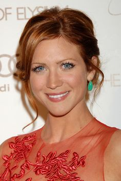Brittany Snow Red Hair Color | Brittany Snow in chrysoprase cabochons from Adeler