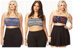 7.10.2013 ~ Want It Wednesday ~ Tips for Wearing a Plus Size Bandeau Top #forever21 (Curvy in Kansas City - A Plus SIze Fashion Blog)