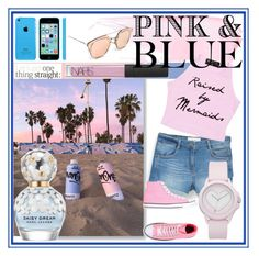 """Pink and blue"" by maki007 ❤ liked on Polyvore featuring MANGO, Converse, Juicy Couture, NARS Cosmetics, Marc Jacobs and pinkandblue"