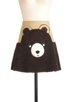 Sam's Grin & Bear It Skirt | Mod Retro Vintage Skirts | ModCloth.com