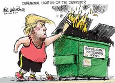 Best Donald Trump Cartoons of 2016: Torch Bearer