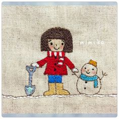 おかっぱちゃん  今日も また おかっぱちゃんの刺繍  おかっぱちゃん雪遊び中  これは 今日 図案を考えることからはじめて完成まで まる1日かかりました。  もちろん 家事もしつつですけど  1日で完成するとなんだか すごい達成感 ( ´艸`) ヤフオクにがま口7個出品中です。 ID  lavandula3608 です。^ω^  #刺繍 #手作り  #ステッチ #オリジナル  #ハンドメイド #handmade  #図案 #embroidey  #タグ #おかっぱちゃん
