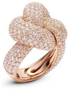Palmiero-Intrecci Ring 18ct rose gold | Luxurydotcom