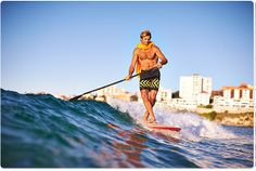 Laird, taming the 1 footers of Bondi beach this morning  #sup #paddleboard #standuppaddle