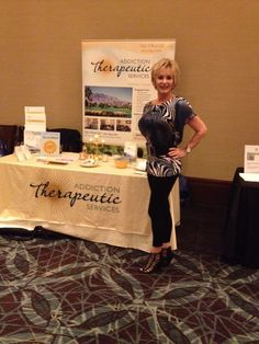 Addiction Therapeutic Services booth at U.S. Journal 7th National Counseling Advances Conference... Go Marsha Morris!