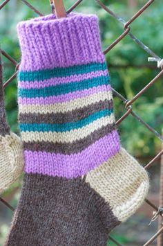 Wool HANDMADE Knitted Warm socks Size 7-8 235 cm by KnitAndCozy #KnitAndCozy