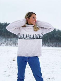 Strikkepakke naTURlig Gran genser i natur Alpakka Magic. - Hoy.no Knit Crochet, Turtle Neck, Pullover, Sewing, Knitting, Sweaters, Magic, Fashion, Nature