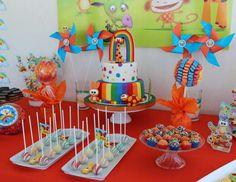 Violeta Glace 's Birthday / Baby TV - Photo Gallery at Catch My Party Baby Birthday Themes, Birthday Party Desserts, 2nd Birthday Parties, Boy Birthday, Baby Tv Cumpleaños, Barbie Em Paris, Candy Bar Party, Fiestas Party, Sesame Street Birthday