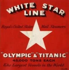 White Star Line Olympic and Titanic Poster (detail) Titanic Poster, Rms Titanic, Star Spangled, Custom Posters, Custom Framing, Olympics, Favorite Quotes, Detail, History