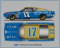 Ford Torino 1968 NASCAR