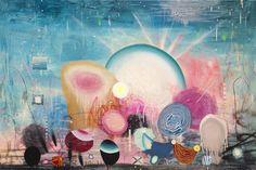 Matías Krahn. Trance sintergético. Óleo sobre tela,130x195 cm, 2012.