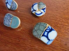 Kintsugi - broken china and sea glass..?