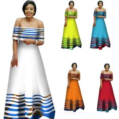 African Clothing For Women Women Dashiki Wax Print Long Party Dress For Ladies