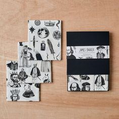 Handkerchief Pocket Square Set, William Shakespeare, Kings, Costumes and Symbols, Hamlet, Shakespeare print, gift for her, gift for him by JamesBarkerDraws on Etsy