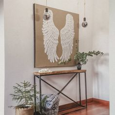Punch Needle, Entryway Tables, Wings, Furniture, Home Decor, Decoration Home, Room Decor, Home Furnishings, Feathers