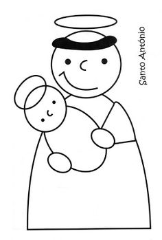Amiga de Jesus: Santos Populares (para colorir) Saint Antonio, Finger Puppet Patterns, Julia Cameron, Art Activities, Puppets, Art For Kids, Coloring Pages, Hello Kitty, Arts And Crafts