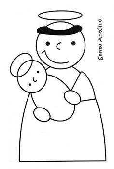 Amiga de Jesus: Santos Populares (para colorir)