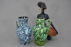 Vintage Vasen-Set (2 Stück) / Scheurich / 405 13,5   West Germany   WGP   60er von ShabbRockRepublic auf Etsy