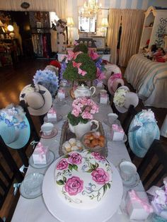 Tea Party Party Ideas in 2019 . Apr Veronica G's Tea Party / - Photo Gallery at Catch My PartyTea Party Theme Birthday Girls Tea Party, Princess Tea Party, Tea Party Birthday, Party Party, Cake Birthday, House Party, Tea Party Table, Tea Party Hats, Adult Party Themes