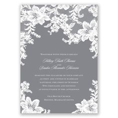Lace Fantasy - Begonia - Invitation | Invitations By David's Bridal