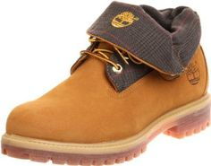 timberland roll top boots plaid