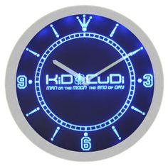 Kid Cudi Hip-Hop Music Neon Sign Bar Wall Clock