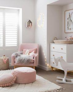 Ambiance rose dans cette chambre d'enfant #girly #enfant #kidsroom
