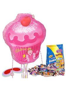 Pinkalicious Pinata Kit by COSTUME SUPERCENTER. $26.51. Party guests will feel like they have entered the cheerful world of Pinkalicious with this bright party accessory! It includes a pinata, blindfold, and 3 lbs of candy filler. Everyone will remark that this pinata looks good enough to eat, and that's because of its cupcake shape and yummy looking decorations. The top of the cupcake shaped pink pinata features a red cherry atop a mound of light pink frosting with spri...