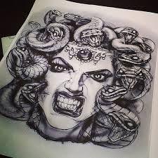 Resultado de imagem para medusa tattoo