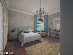 Roomstyler.com - feminine bedroom