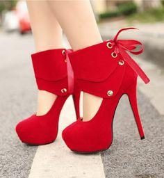 Red High Heels - HeelsFans.com