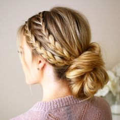 3 Impressive Tips Can Change Your Life: Bun Hairstyles For Homecoming women hair., 3 Impressive Tips Can Change Your Life: Bun Hairstyles For Homecoming women hair. Braided Hairstyles Updo, Summer Hairstyles, Girl Hairstyles, Vintage Hairstyles, Wedding Hairstyles, Bridesmaid Hairstyles, Formal Hairstyles, Homecoming Hairstyles Short Hair, Updos With Braids